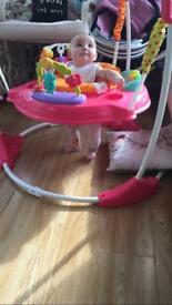 Pink petals jumperoo