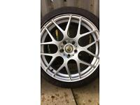 """18"""" 5 Stud Alloy Wheels with Tyres 225/40/18"""