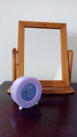 Lovely lilac/purple bedroom alarm clock