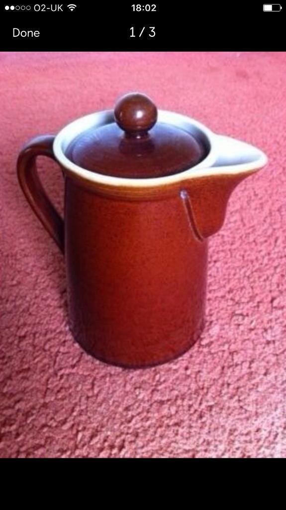 Antique Denby Coffee Pot