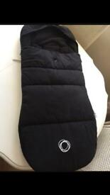 Bugaboo Universal Black Footmuff Cosy Toes, excellent condition, hardly used