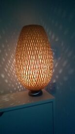 Table lamp in bamboo style ideal for living room or entry / hall