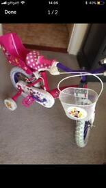 "12"" Minnie Mouse bike"
