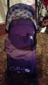 O baby little cutie stroller and new born carry cot