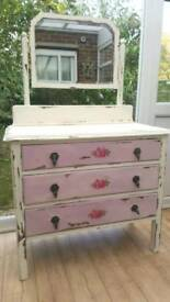 Vintage Oak Dressing Table Painted in Annie Sloan.