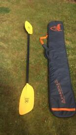 Palm padded paddle bag and Werner paddle