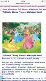 Walltastic disney princess wall mural kids wallpaper