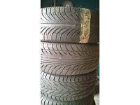 asorted car tyres part worn