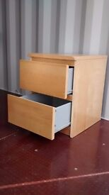 Chest of 2 drawers, Ikea Malm