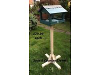 Garden Bird Feeder Table - New and Hand Made from reclaimed wood - Assorted Colours - £29.99 each