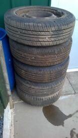 Tyres 185/65/15 on Citroen Picasso rims