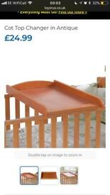 Brand New - Cot Top Changer in Antique RRP £24.99