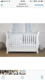 White cot/ cot bed