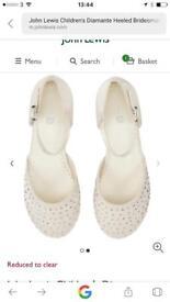 Girls size 12 shoes bridesmaid wedding
