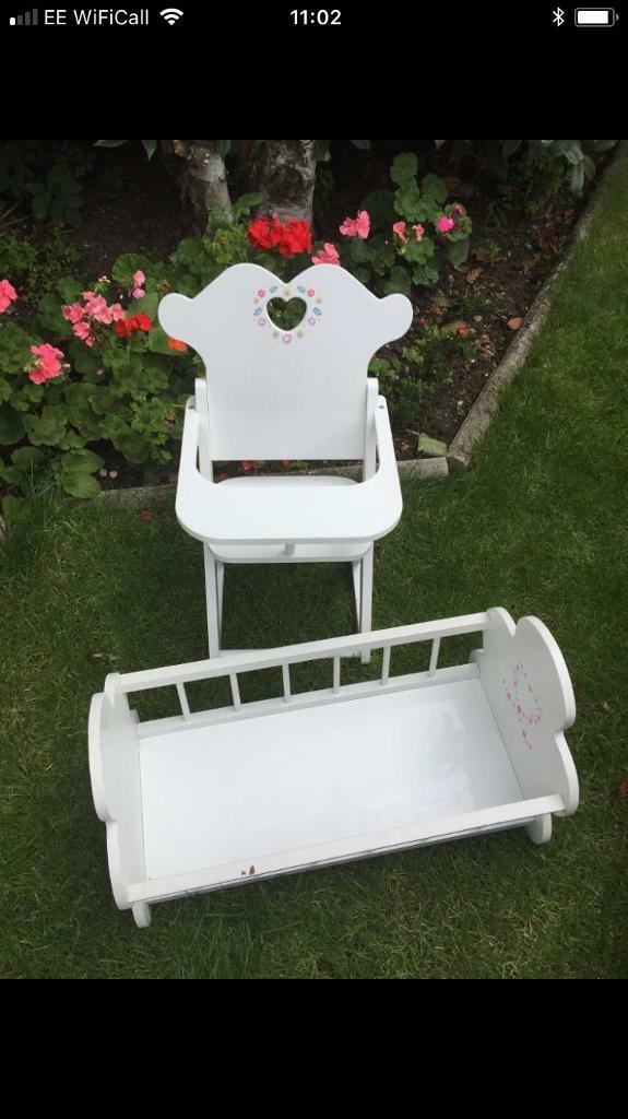 Baby Doll highchair and cot