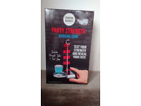 The Drinking Buddies Party Strength Drinking Game, unused, boxed, unwanted gift, includes shot glass