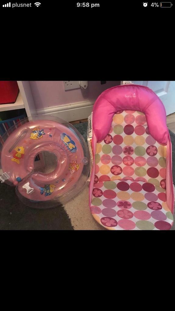 Baby bath support seat and neck ring   in Tredegar, Blaenau Gwent ...