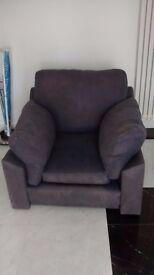 Armchair - Free Large clean, modern shape, blue colour.