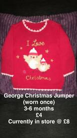 Christmas Jumper 3-6 months
