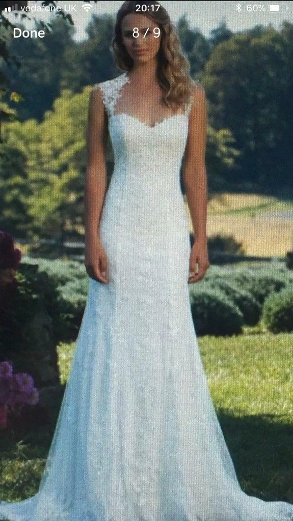 Justin Alexander (3885) Stunning Ivory Wedding Dress Size 12 | in ...