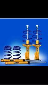 Golf mk7 koni shocks & h&r lowering spring set new