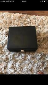 Men's leather watch box