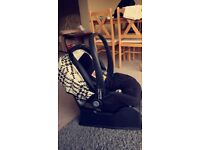 Baby car seat with surefix base