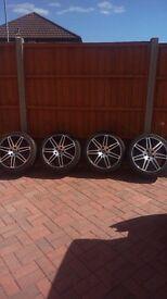 "RS4 18"" Diamond cut 5x112 with goood tires Audi, VW, Mercedes"