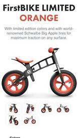 Limited edition orange - first bike balance bike