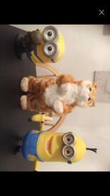 Kids minion toys & dancing cat
