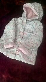 Girls 18-24 months thick butterfly coat