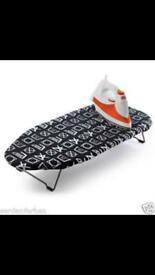 Brand new black and white Beldry table top ironing boards