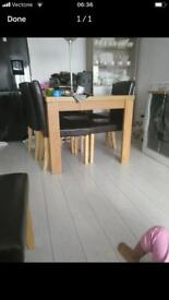 Dining table and 5 chairs £45 all included