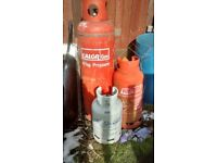 5,13, 19 & 47kg empty Cylinders Calor, Flogas for refill or outdoor garden/ log burner heater or bbq