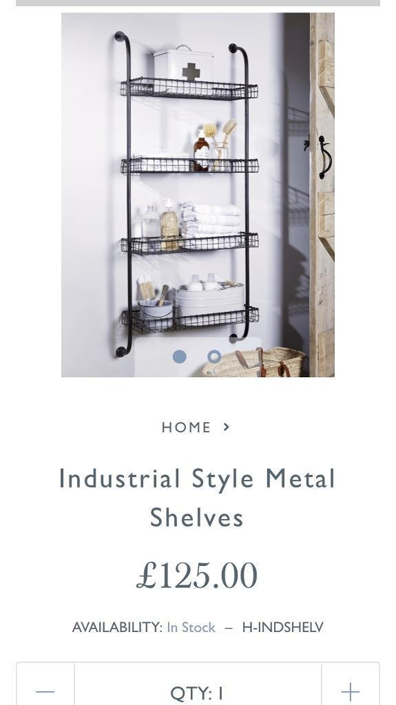 Industrial style metal shelves
