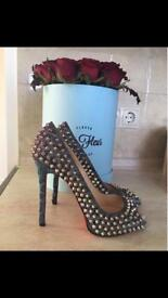 100% authentic Christian Louboutin spiked heels shoes LV YSL MK Zara Gucci DIOR
