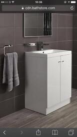 Alpine duo 600 freestanding vanity unit . No basin