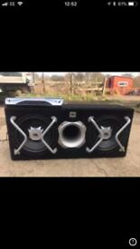 JBL GT Series Slipstream 12' Twin Subwoofer 1600w & JBL amp 1400w