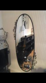 Large metal mirror - great condition