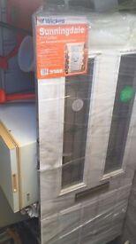 Wickes Sunningdale UPVC Front entrance door brand new cost £499 1981 * 838mm
