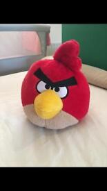 Large red angry birds teddy