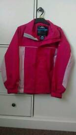 Girls Trespass Waterproof Windproof Jacket Age 9-10