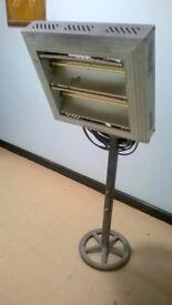 Infrared Electric patio garage workshop heater Tansun Quartzheat Apollo 3kW