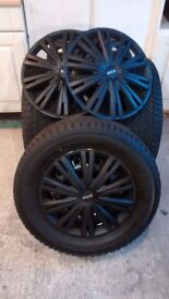 Excellent Yokohama winter tyres on steel wheels with trims - ready to go!