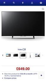 Sony Bravia smart tv 4K 49'inch
