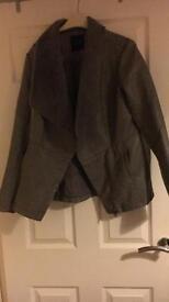 Lovely grey leather coat