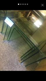 STYISH bent glass nest of tables, RRP £300
