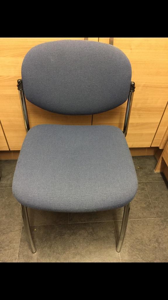 8x blue meeting chairs