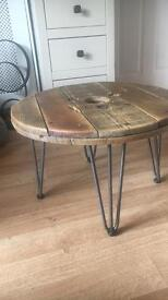 Upcycled Cable Reel Coffee Table