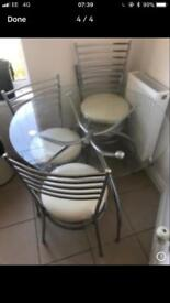 Kitchen / Dining Room Table with 4 chairs